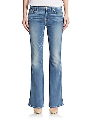 Whiskered Flare Jeans