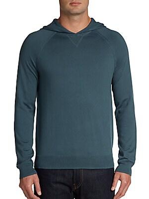 Cotton Raglan-Sleeve Hoodie