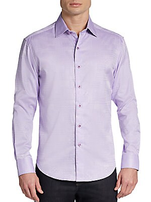 Tailored-Fit Luciano Woven Cotton Sportshirt