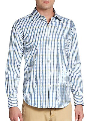 Tailored-Fit Gianni Embroidered Sportshirt