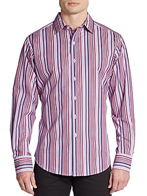 Born To Run Striped Cotton Shirt