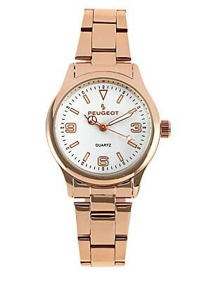 Rose Goldtone Link Bracelet Watch