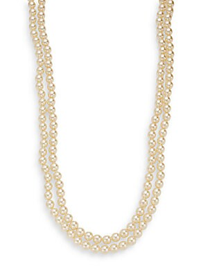Two-Row Simulated Pearl Necklace
