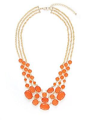 Triple-Row Bib Necklace