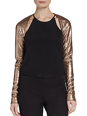 Sequin Shrug Top