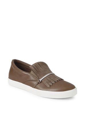 Reanna Slip On Leather Sneakers by Lauren Ralph Lauren