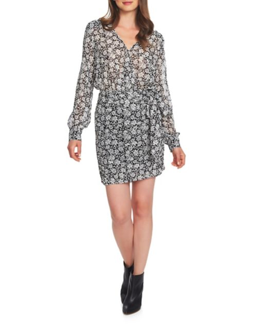 Robe Girl longues 1STATE manches Wild Blooms portefeuille Boy Meets à MUVpqSz
