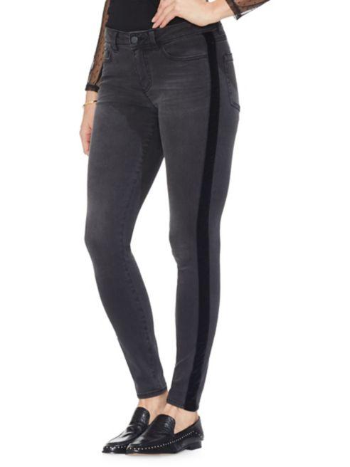 Trimmed Jeans Rose Velvet Skinny Camuto Gilded Vince lFKJ31ucT
