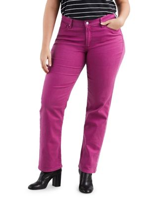 Plus 414 Classic Straight Pants   Soft Raspberry Radiance by Levi's