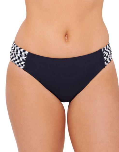 Culotte Couture fronces et à à Beach latérales garçonne imprimé OX8n0wPk