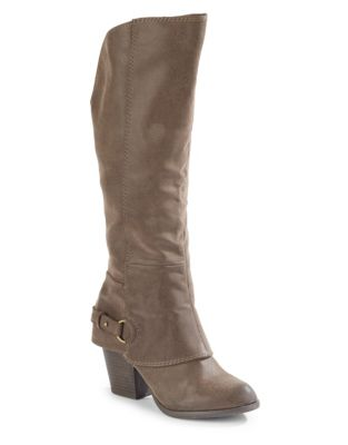 Tall Stacked Heel Boots by Fergalicious