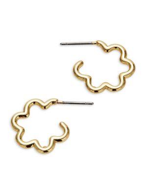 Scrunched Scallops Hoop Earrings by Kate Spade New York