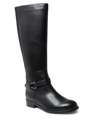 Studio B Zehra Leather Waterproof Riding Boots by Blondo