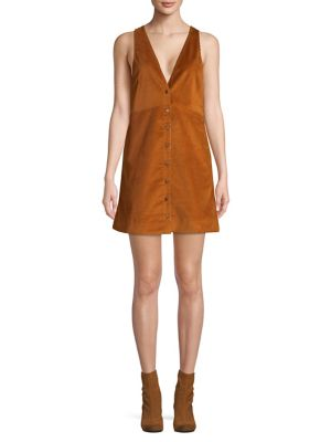 Rolling Thunder Corduroy Mini Dress by Free People