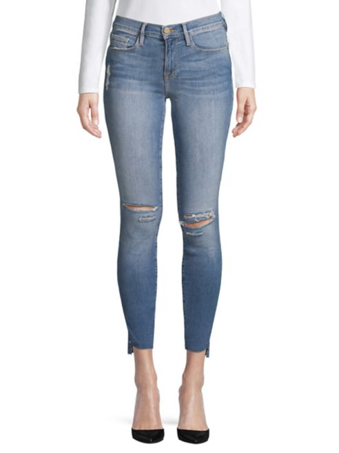 Skinny Raw Jeans Frame Distressed Hem I9YEHW2D
