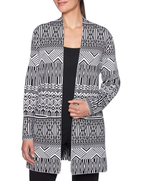 optique Cardigan Must en Ruby imprimé à jacquard Haves Rd ordexCB