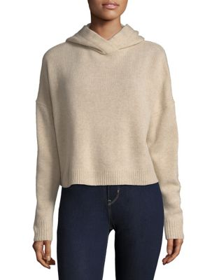 Cropped Cashmere Hoodie by Theory