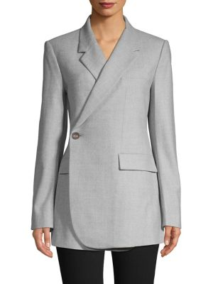 Overlap Front Virgin Wool Blazer by Theory