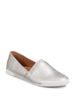 Melanie Metallic Slip On Leather Loafers by Frye