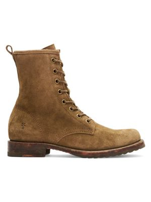 Veronica Suede Combat Boots by Frye