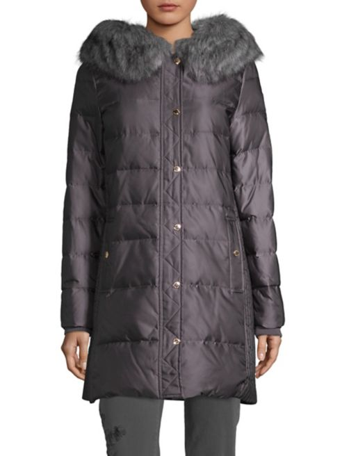 York de Spade New Manteau bordé Walter similifourrure Kate l1FKJc