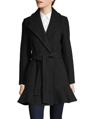 Notch Collar Belted Coat by Kate Spade New York