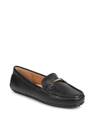 Logo Leather Loafers by Lauren Ralph Lauren