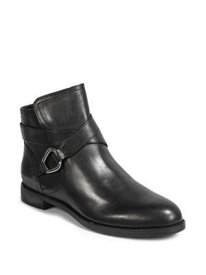 Leather Round Toe Booties by Lauren Ralph Lauren