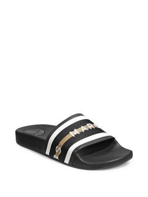 Logo Spot Slide Sandals by Marc Jacobs