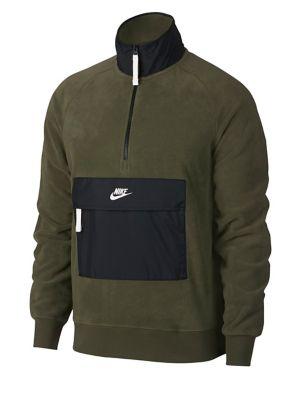 Sportswear Zip Logo Fleece Sweater by Nike