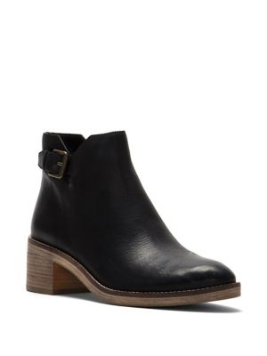 Harrington Grand Buckle Leather Booties by Cole Haan