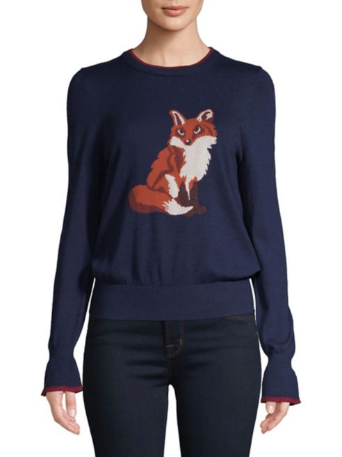 tricot intarsia à en renard Highline Collective Chandail de imprimé 3q54ARLj