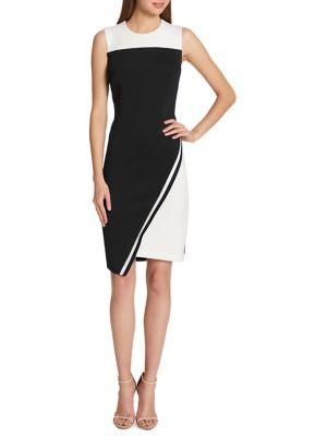 Asymmetrical Hem Sheath Dress by Tommy Hilfiger