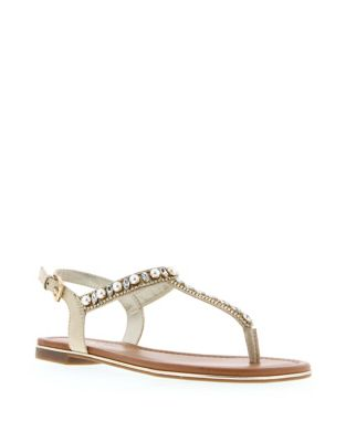 Dharci2 Embellished Thong Sandals by Unisa