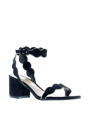 Eadldyn Scalloped Ankle Strap Sandals by Unisa
