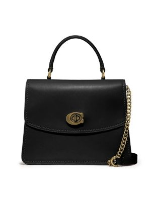 Parker Leather Top Handle Bag by Coach