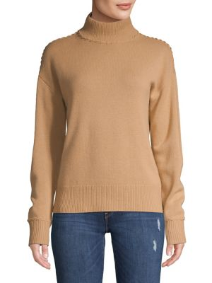 Ribbed Turtleneck Cashmere Sweater by Theory