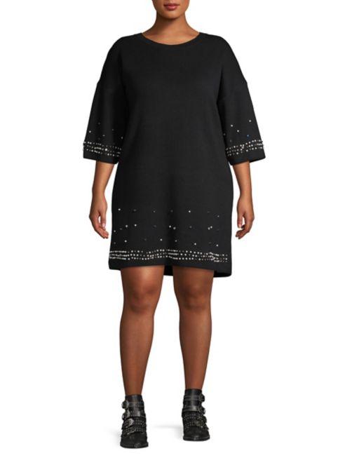 Faux Sweater GABRIELLE Pearl Embellished Dress rBdCoeWx