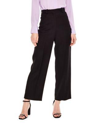 Wool Blend High Waist Pants by Sandro