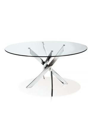 Ellis Round Glass Top Dining Table by Distinctly Home