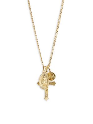 Luxury Brooks Gold Cross Charm Necklace by Cuchara