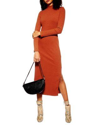 Ribbed Midi Dress by Topshop