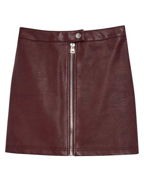 Skirt Leather Mini Zip Faux TOPSHOP Ok0nXN8ZwP