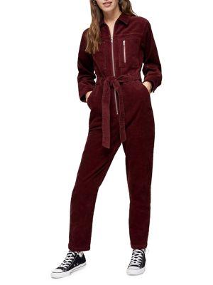 Corduroy Boiler Suit by Topshop