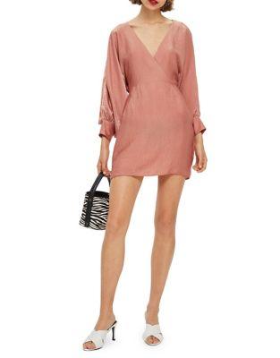 Velvet Satin Mini Dress by Topshop