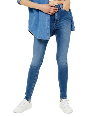 Mid Blue Jamie Jeans 34 Inch Leg by Topshop