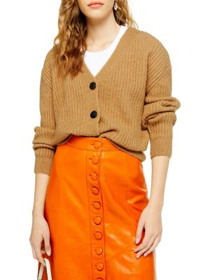 Ribbed Cardigan by Topshop