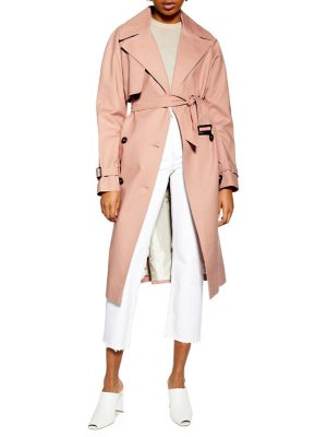 Belted Double Breasted Trench Coat by Topshop