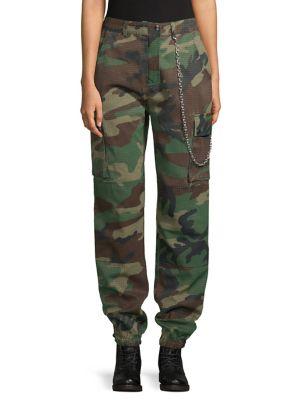Khaki Premium Chain Cotton Trousers by Missguided