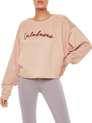 Calabasas Cropped Sweatshirt by Missguided